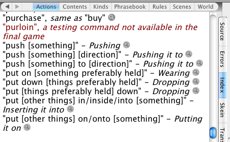 The put verb in the actions tab