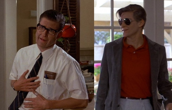 Two images of George McFly